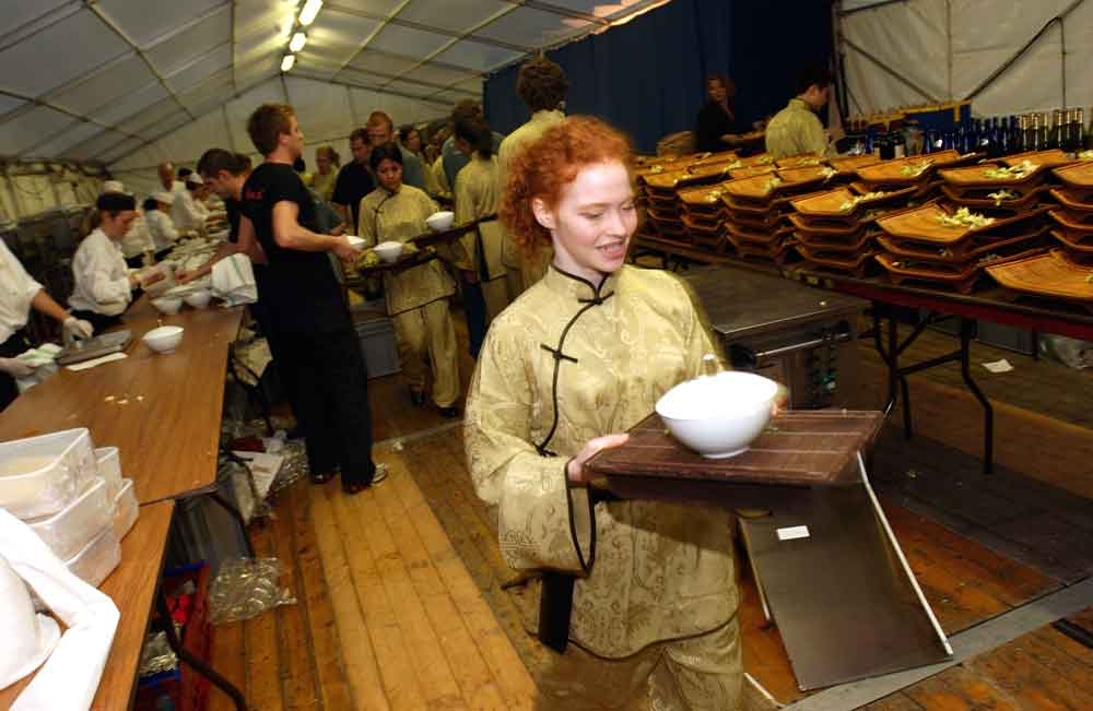 event kitchens in a tent