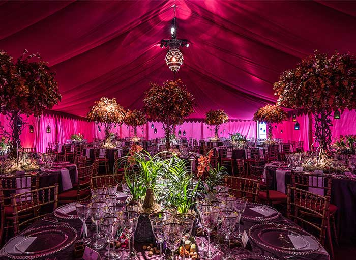 Raj style event pink tent