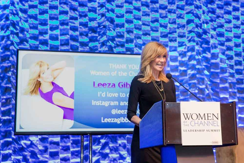 Leeza Gibbons at Women of the Channel Leadership Summit
