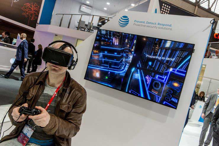 virtual reality on trade show booths