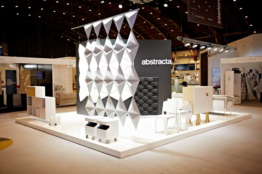 abstracta exhibition stand at 100% Design