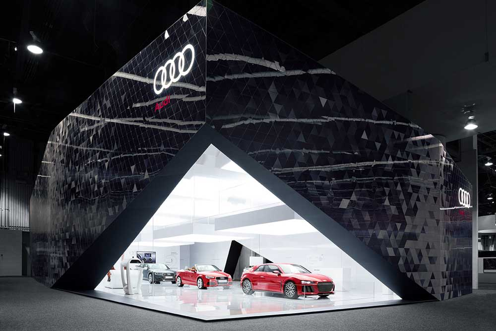 Audi stand at CES 2014