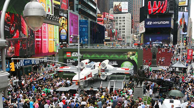 LEGO Star Wars event in Times Square