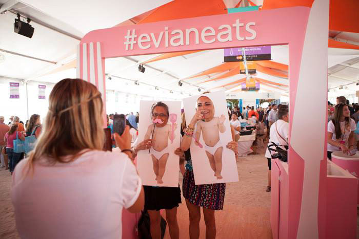 Evian Eats photo op