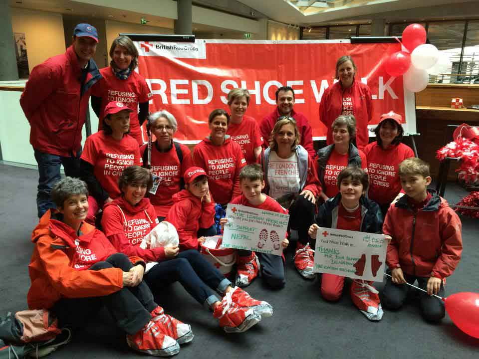 British Red Cross Red Shoe Walk