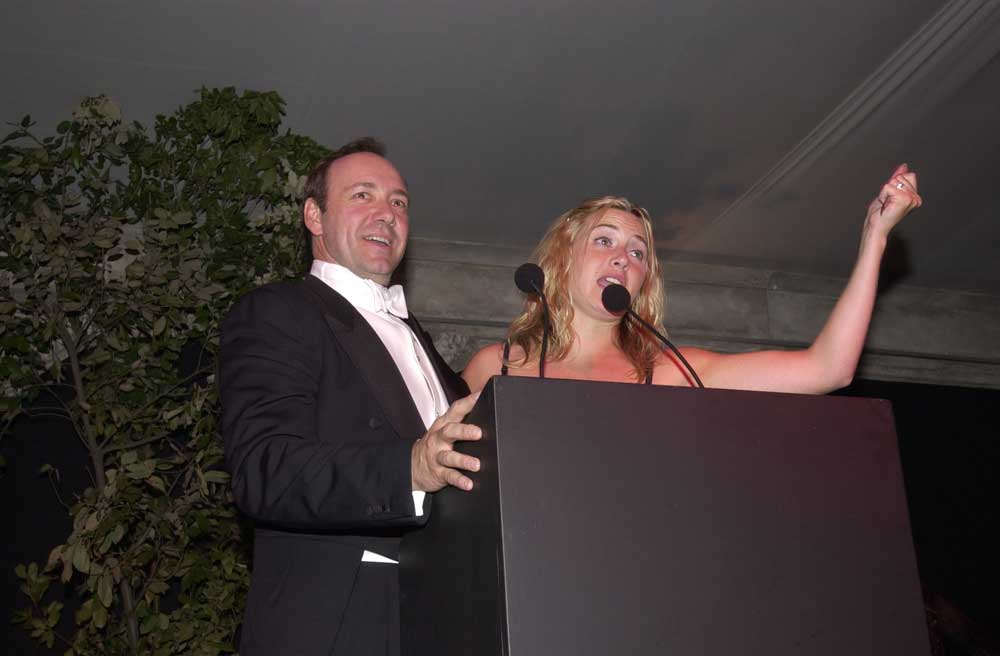 Kevin Spacey & Kate Winslet at Elton John's White Tie & Tiara Ball