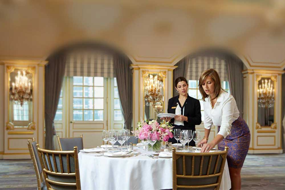 hotel event planner at St Regis Hotel New York
