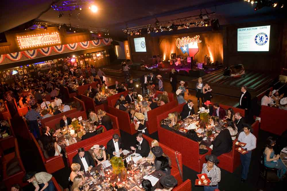 dining room and tables at Red Cross Ball