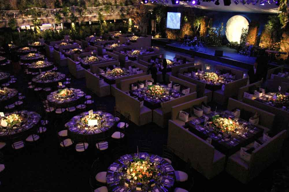 dining room and tables for red cross ball