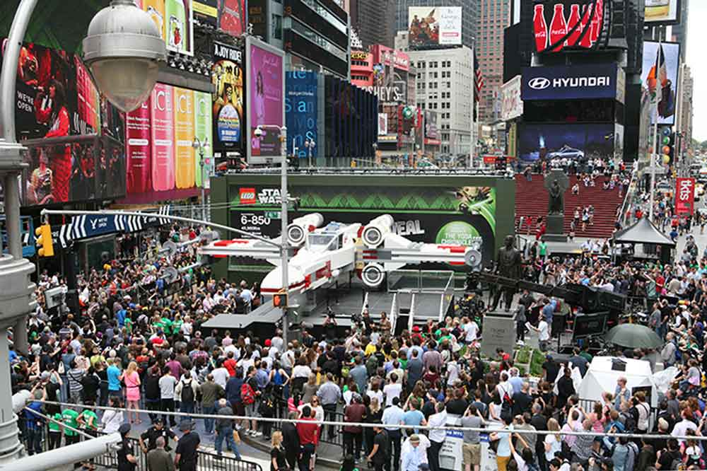LEGO Star Wars event Times Square