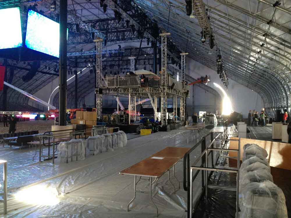 NOLA Super Bowl XLVII event set up