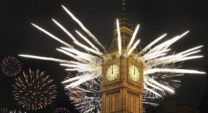 New Year's Eve fireworks Big Ben